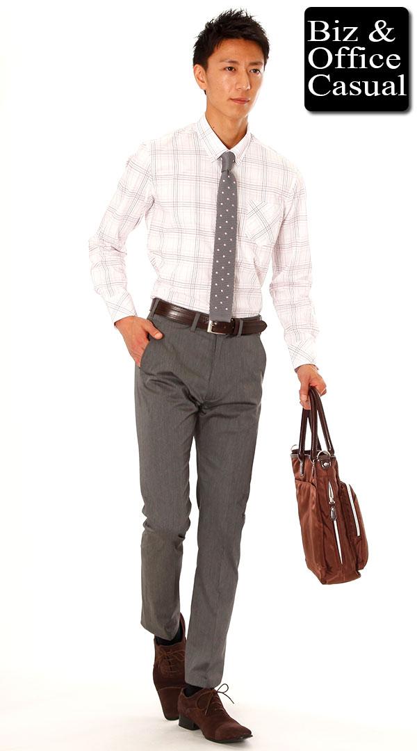 ビジネスカジュアル パンツ(ズボン)とベルト・シューズ(靴)の色の合わせ方選び方例 グレー・ブラック・ホワイト・ネイビー・キャメル・ブラウン ,  メンズビジネス